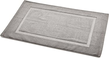 AmazonBasics 100% Cotton Banded Bath Mat (50.8 X 78.7 cm) 1200 GSM, Grey