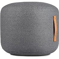 Coninx Sitzsack Anthrazit - Sitzhocker - Fußhocker - Pouf - Sitzpouf Rund Gefüllt mit Polyestyrolkugeln - Sitzsäcke…