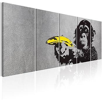 Murando bilder banksy affe mit banane 200x80 cm vlies for Wandbilder wohnung