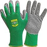 GRÜNTEK Tuinhandschoenen - 5 paar handschoenen Latex gecoat, voor privé en commercieel gebruik, M/8, groen/grijs, 1