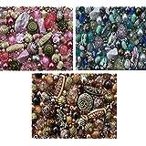 Sabrikas - Perline per la creazione di gioielli, set da circa 1000, 3 colori: rosa, blu e marrone
