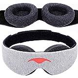 Manta Sleep Schlafmaske - Augenmaske für 100% Dunkelheit, null Druck auf die Augen, einstellbare Augenpolster, tiefstmögliche