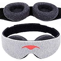 Manta Sleep Schlafmaske - Augenmaske für 100% Dunkelheit, null Druck auf die Augen, einstellbare Augenpolster…