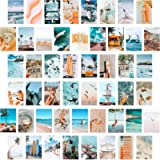 BeYumi 50PCS Blue Aesthetic Picture for Wall Collage, 50 Set 4x6 inch, Summer Beach Collage Print Kit, Fashion Room…