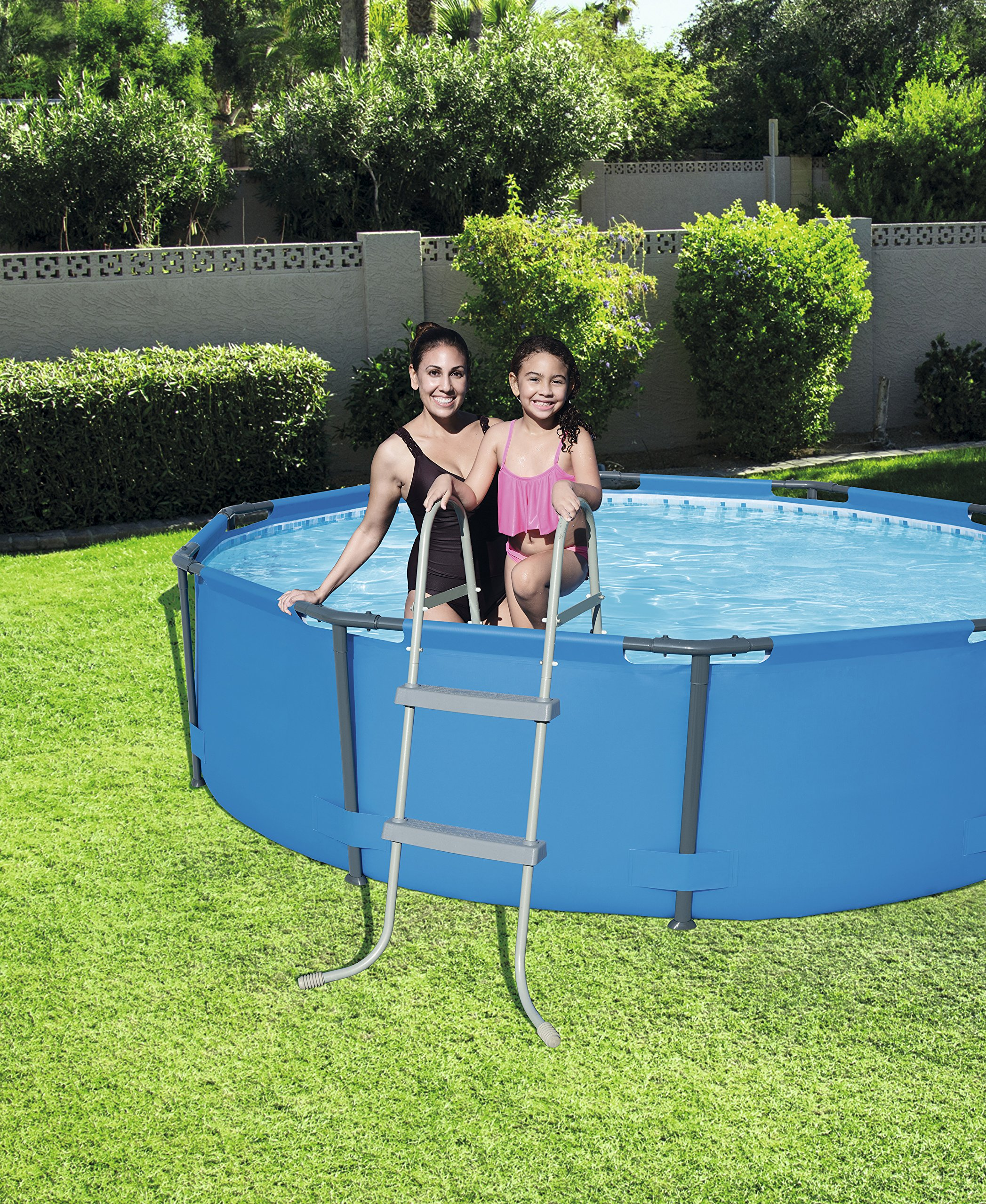 Bestway 58430 – Escalera para piscinas de 84 cm, sin plataforma