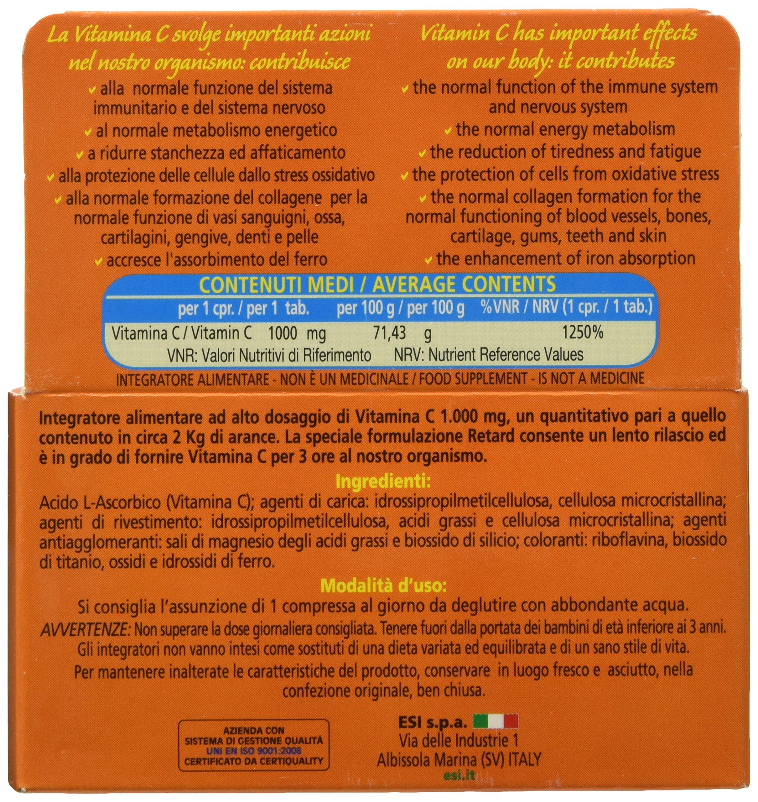 Vitamina C Pura 1000 mg Retard - 30 Compresse 4 spesavip