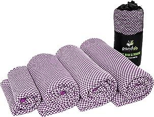 pandoo Bambus Reisehandtuch - Ultraleicht, Extrem saugfähig, Antibakteriell & Schnelltrocknend - Besser als herkömmliche Mikrofaser - Sport-, Reise-, Trekking- & Badetuch - Alle Größen und 5 Farben