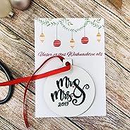 Baumschmuck Unser erstes Weihnachten als Mr. & Mrs. Nikolausgeschenk Hochzeitsgeschenk