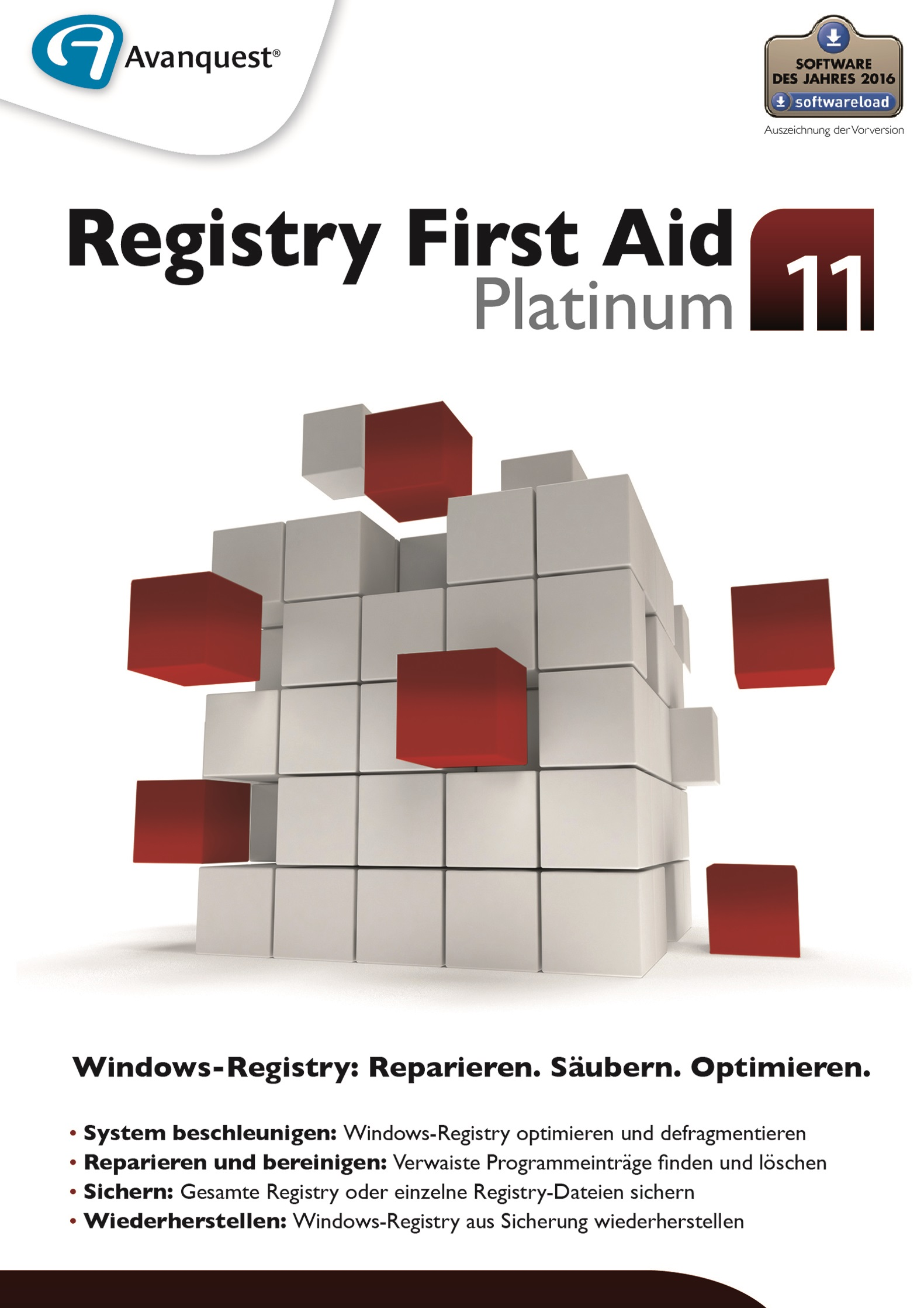 Registry First Aid 11 Platinum - Reparieren, Säubern und Optimieren der Windows-Registry! Für Windows 10|8|7|Vista|XP [Download]