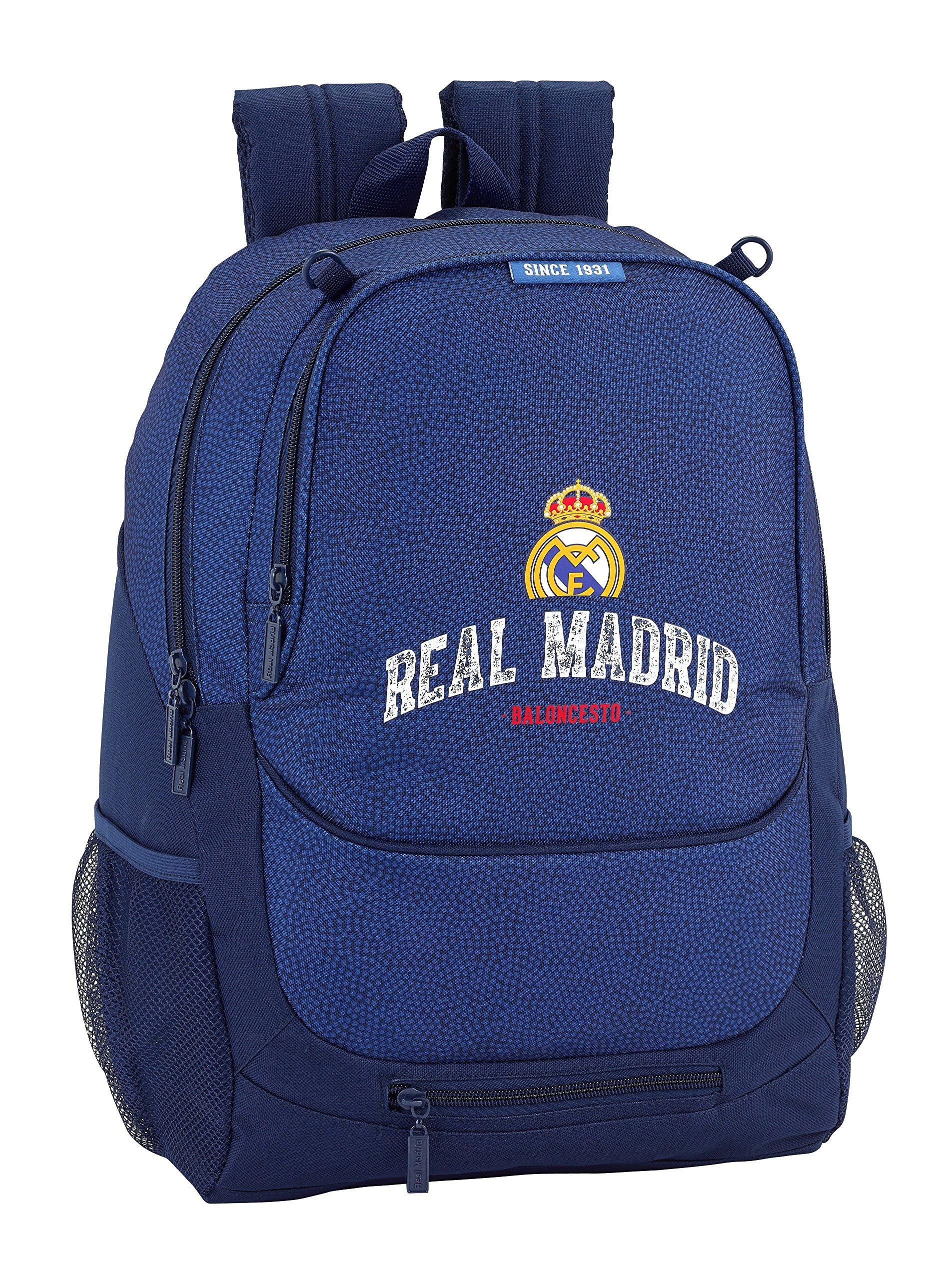 A1Q9OjJ78rL - Safta Mochila Escolar Real Madrid Basket Oficial 320x160x440mm