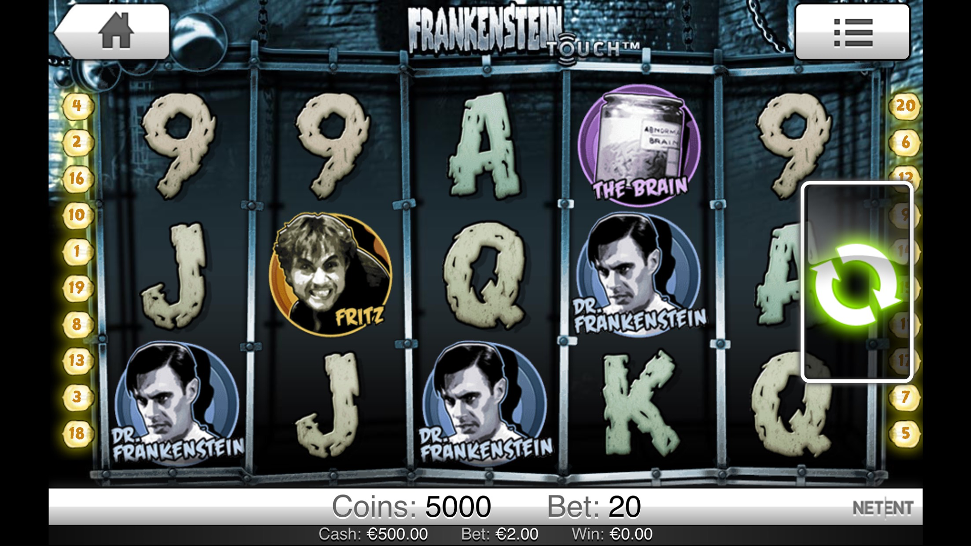 Frankenstein Slot Machine