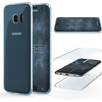 Urcover Coque Compatible avec Samsung Galaxy S7 Edge Etui Tactile 360  degres Touch Case Tout Round Silicone Transparente de Points Matricielle,  Housse Écran ... 7c64b2ea8a22