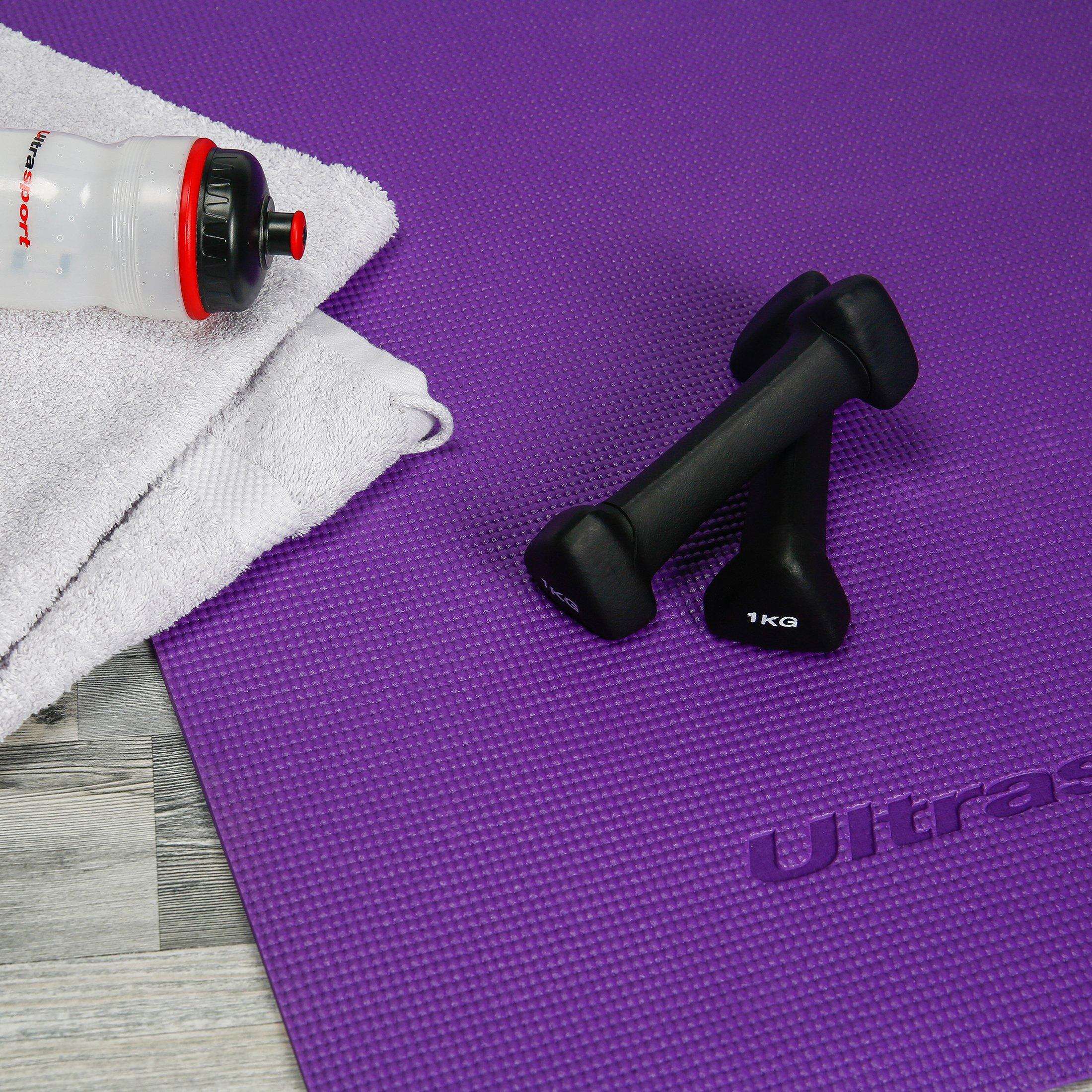 id/éal pour sentra/îner chez soi Ultrasport Halt/ères en n/éopr/ène avec poign/ée Soft Touch 1 kg, 2 kg et 3 kg ou en kit avec support halt/ères de gymnastique disponibles dans diff/érents tailles