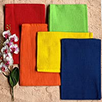 Pixel Home Superior Cotton Lunch Napkins Multi-Purpose Kitchen Cleaning Towel (Multicolour)