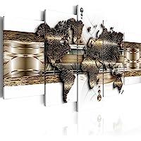 murando - Bilder Weltkarte 200x100 cm Vlies Leinwandbild 5 TLG Kunstdruck modern Wandbilder XXL Wanddekoration Design…
