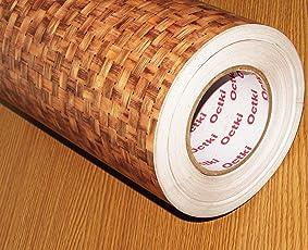 Cvanu Self Adhesive Wood Vinyl Wallpaper Waterproof Old Furniture Vinyl Stickers Wooden Door Wardrobe Desktop Pvc Wall Papers Cv66 12''X60''Inch