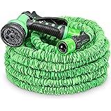 tillvex flexiSchlauch - Flexibler Gartenschlauch 15m ausgedehnt, Testurteil GUT, Wasserschlauch flexibel, Gartenteichschlauch dehnbar