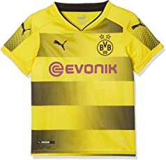 Puma Kinder BVB Kids Home Replica Shirt with Sponsor Logo Fußball T