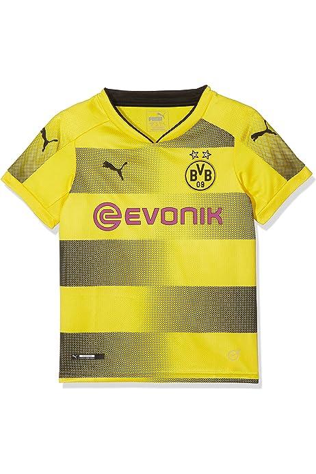 PUMA 1a Equipación 19/20 Borussia Dortmund Replica Niño/a con Evonik Opel Logo Maillot, Niños, Cyber Yellow/Black, 128: Amazon.es: Ropa y accesorios