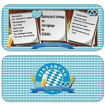 Perfekt Einladungskarten Zur Feier, Party, Fest Oktoberfest Bayrisch Geburtstag  Einladung Eintrittskarte Mit Text U0026 Inkl Druck Mottoparty Bayern Rustikal:  ...