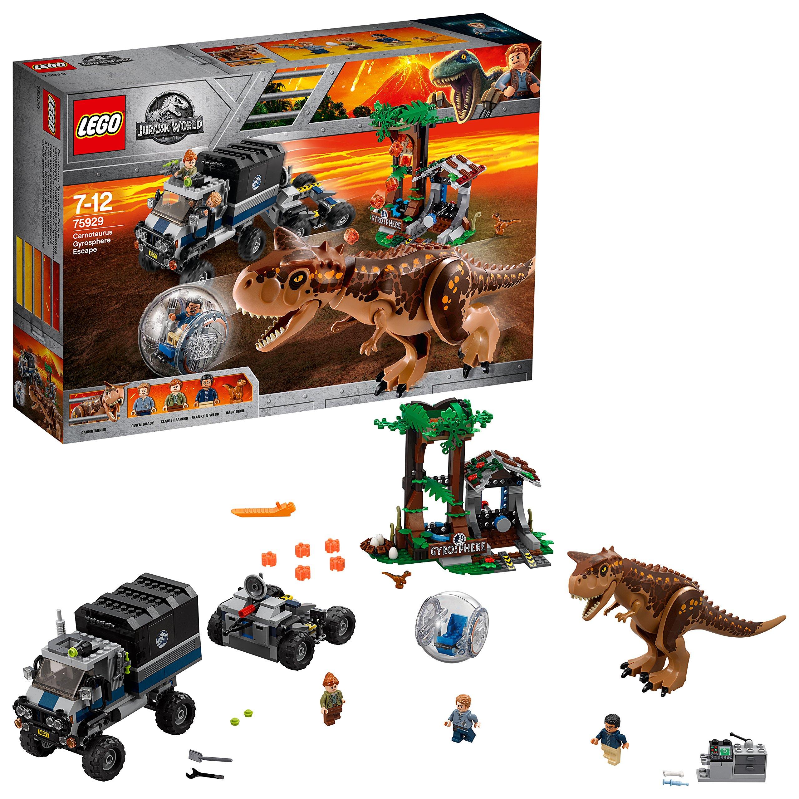 LEGO Jurassic World – Huida del Carnotaurus en la girosfera (75929)