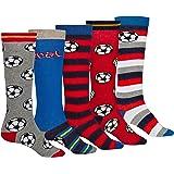 Juego de 5 o 10 medias hasta la rodilla, para niños, fútbol, mezcla de algodón, certificado Öko-Tex Standard 100