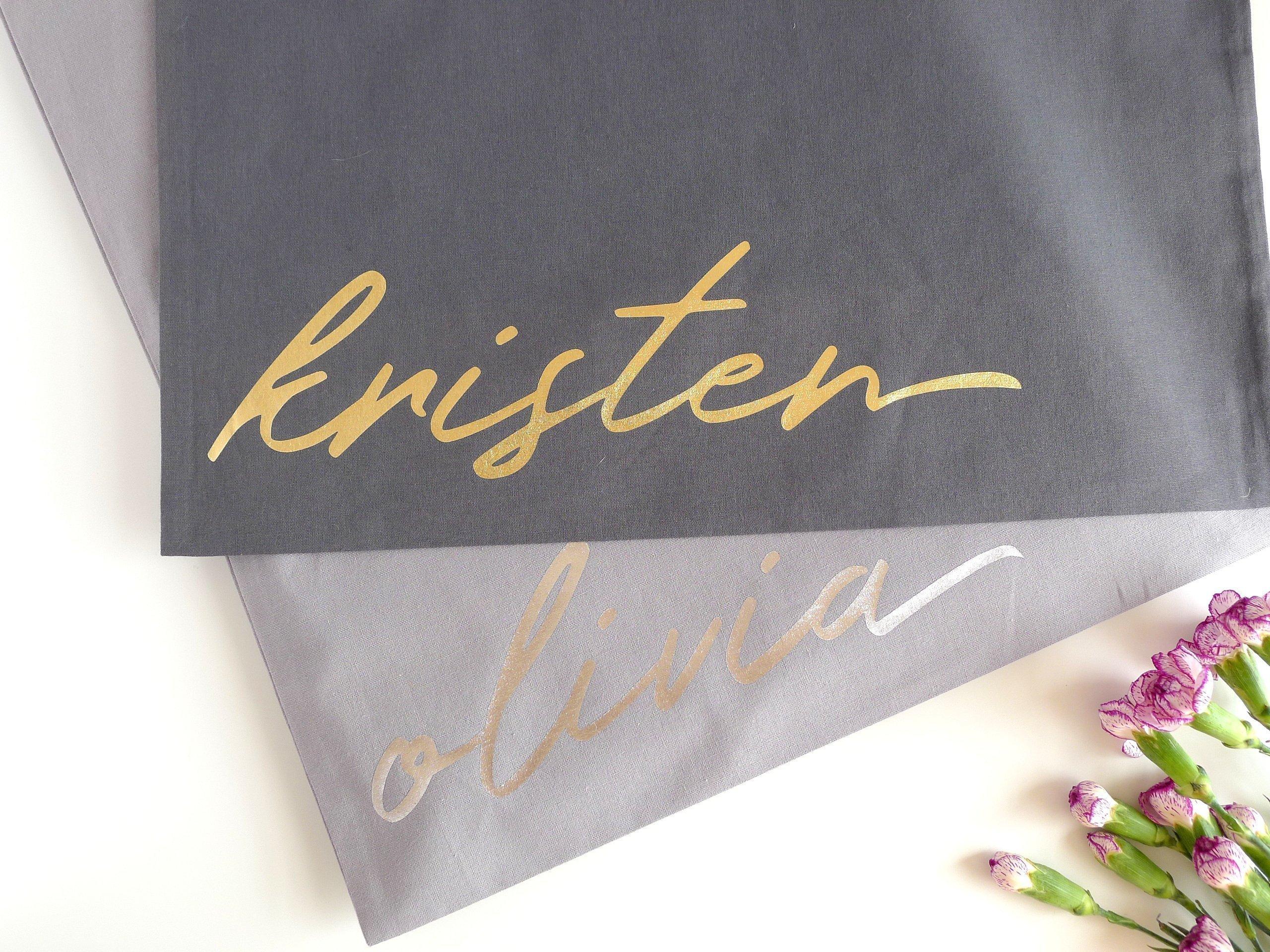Personalised Tote Bag Bridesmaid Gift, Thank You Gift - handmade-bags