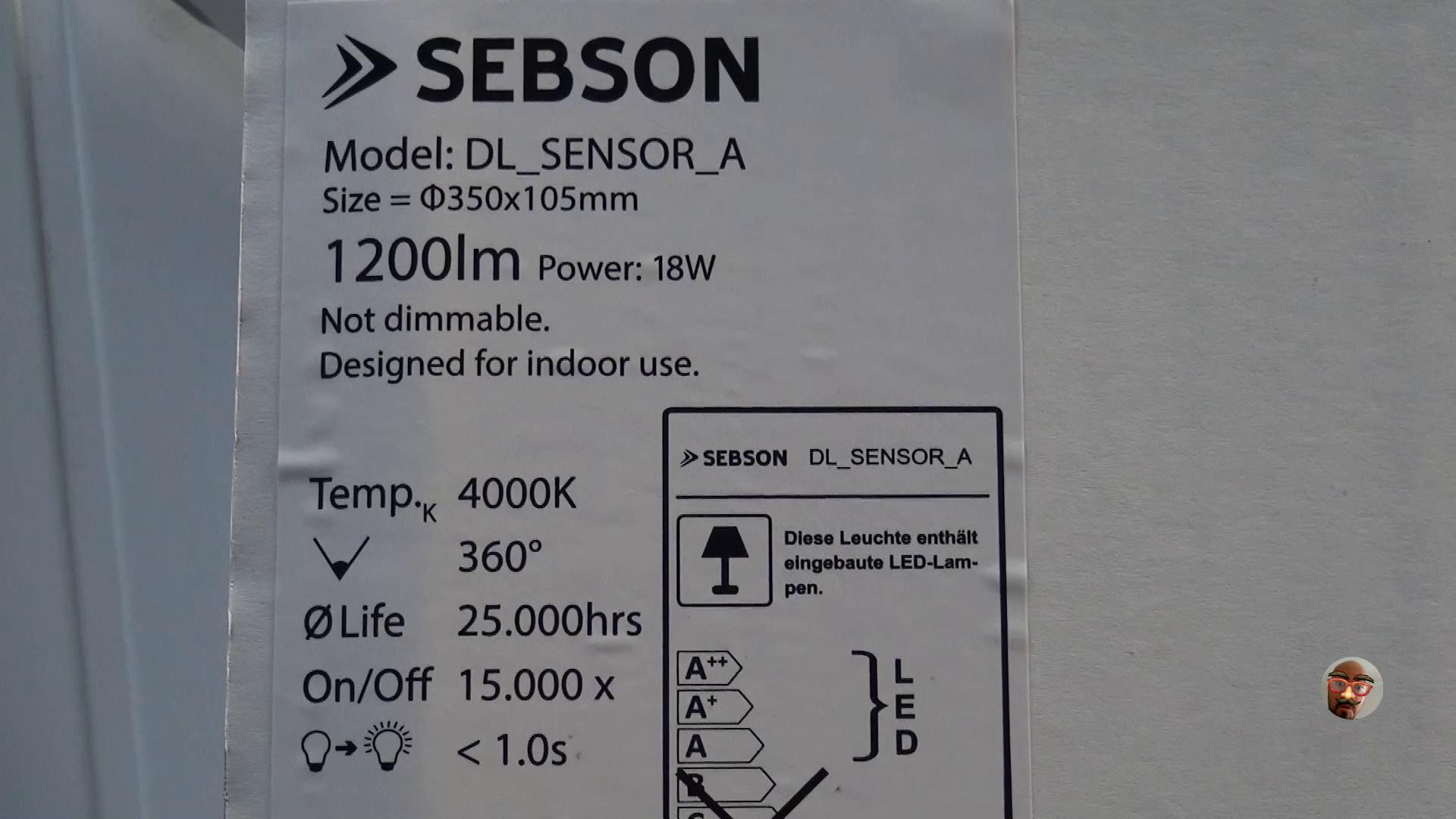 SEBSON - Lámpara de techo LED con control de brillo en 4 pasos, 20 W, 1400lm, blanco neutro (equivalente a bombilla de mín. 90 W): Amazon.es: Iluminación