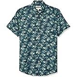 Marca Amazon - Goodthreads Slim-fit Short-Sleeve Linen and Cotton Blend Shirt Hombre
