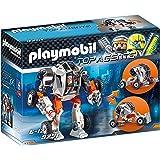 Playmobil Chef de la Spy Team avec Robot Mech, 9251