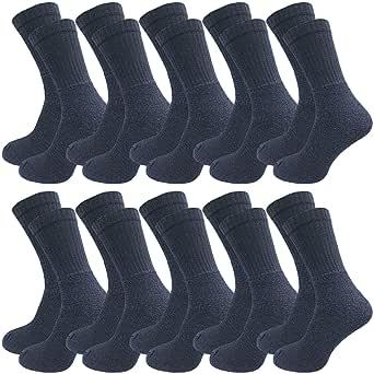 GAWILO Lot de 10 paires de chaussettes de travail - Chaussettes de sport - Chaussettes de tennis - Chaussettes de loisirs - Pour homme et femme