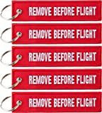 "Anhänger mit ""REMOVE BEFORE FLIGHT"" - 5er-Pack"