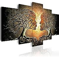 murando - Bilder Bäume Liebe 200x100 cm Vlies Leinwandbild 5 TLG Kunstdruck modern Wandbilder XXL Wanddekoration Design…