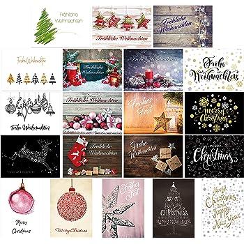 Postkarten weihnachtskarten weihnachten sch ne gr e zum fest 20 modelle 10 designs - Weihnachtskarten amazon ...