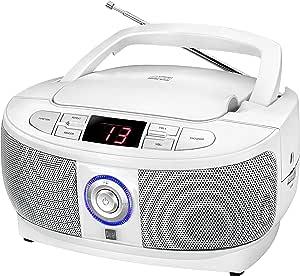 Dual P 49 1 Boombox Mit Cd Player Ukw Radio Led Display Netz Oder Batteriebetrieb Weiß Heimkino Tv Video