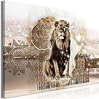 murando Impression sur Toile intissee Lions 90x60 cm Tableau Tableaux Decoration Murale Photo Image Artistique…