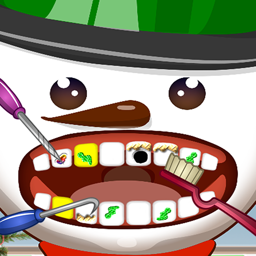 Snowman Dentist Office Salon Dress Up Spa Game - Fun Christmas Holiday Games for Kids, Girls, ()