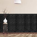 Relaxdays Panele ścienne samoprzylepne, zestaw 10 sztuk, dekoracyjny wygląd kamienia, panele 3D, miękka pianka, 78 x 70 cm, c