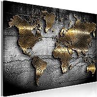 murando - Bilder Weltkarte 120x80 cm Vlies Leinwandbild 1 TLG Kunstdruck modern Wandbilder XXL Wanddekoration Design…