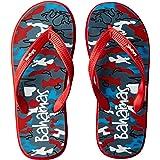 BAHAMAS Men Grey-Red Flip-Flops-6 UK/India (39.33 EU) (BH0033G)