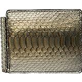 Portadollari - Portafoglio con fermasoldi e portacarte in Vera Pelle di Pitone - Argento - Etabeta Artigiano Toscano - Made i