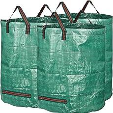 GardenMate 300L Gartensack Professional aus Robustem Polypropylen-Gewebe (PP)