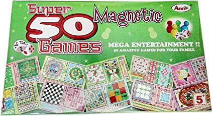 Art box Latest 50 magnetic games for all family in one set ( Mega entertainment for all )