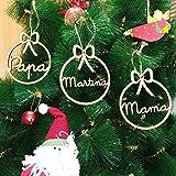 Adorno navidad árbol bola de madera personalizadas con cordel para colgar, Ornamento Decoraciones colgantes de Navidad Christ