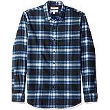 Marchio Amazon - Goodthreads, camicia da uomo a maniche lunghe, in flanella spazzolata, Standard Fit