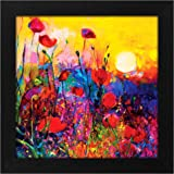 Story@Home Synthetic Wood Framed Nature Scenary Design 'Blooming Sunrise' Modern Wall Art Painting for Decorating Living Room