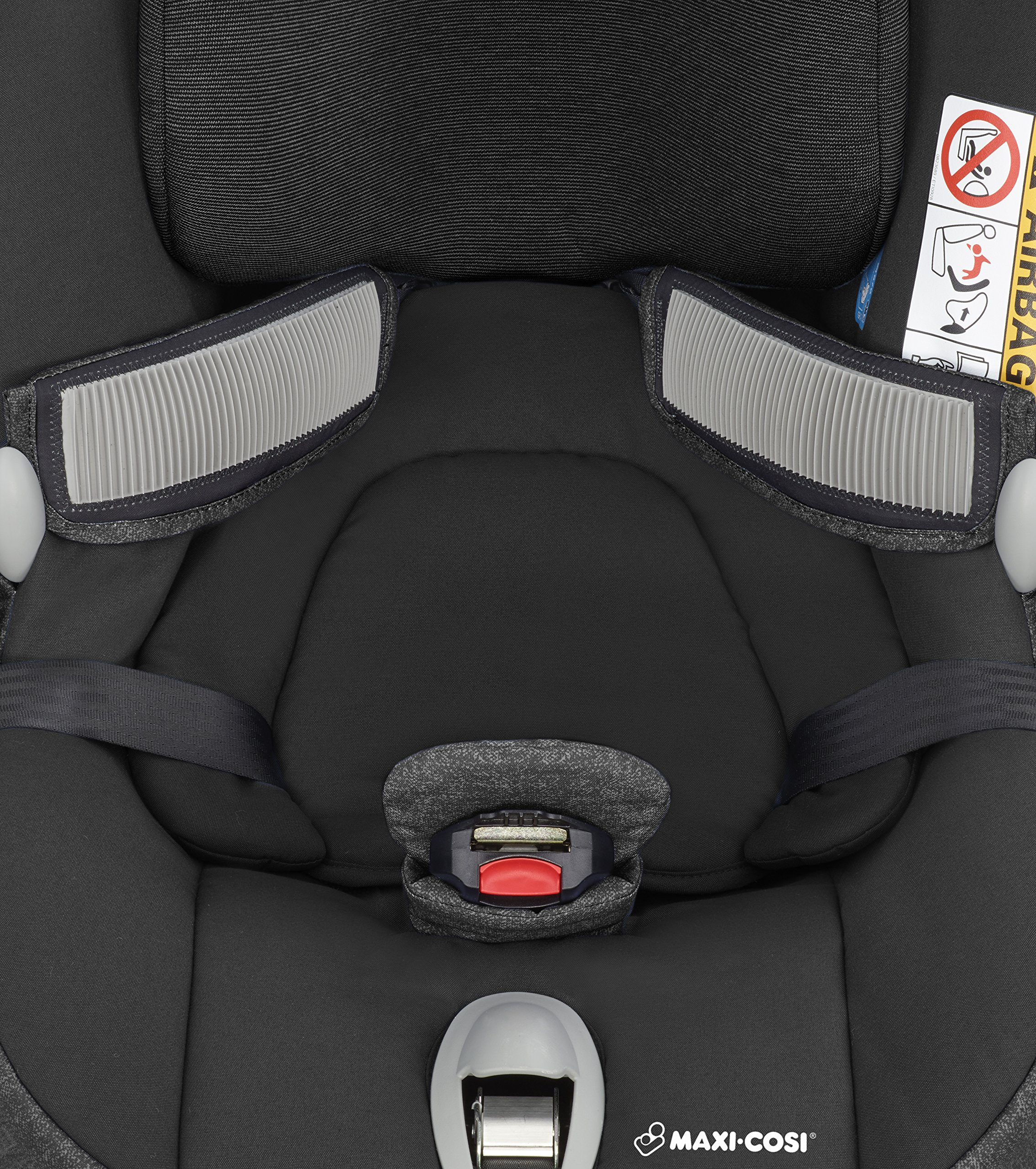 Maxi-Cosi MiloFix ISOFIX Combination Car Seat, Group 0+/1 car seat, Rear and Forward-facing, 0-4 years, 0-18 kg, Nomad Black Maxi-Cosi Rear and forward facing group 0+/1 car seat, suitable from birth to 18 kg (birth to 4 years) i-Size car seat, extended rearward-facing travel up until 18 months Padded seat and angled base provide additional leg room in rear-facing position 6