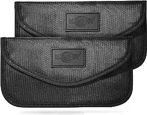 Monojoy 2 X Keyless Go Protection Car Key Faraday Bag Rfid Radio Key Shielding Key Bag Car Blocker Faraday Key Bag Radiation Protection Bag Blocking Case Elektronik