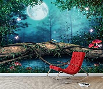 Fantasy Enchanted Fairy Pond Wall Mural Photo Wallpaper Girls Bedroom Decal Xx Large 3000mm X 2400mm Amazon Co Uk Kitchen Home
