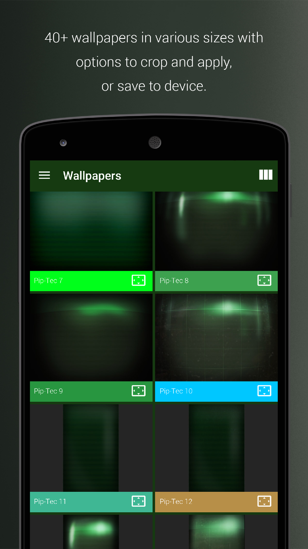 Piptec Green Icons Widgets Live Wallpaper Amazonfr Appstore